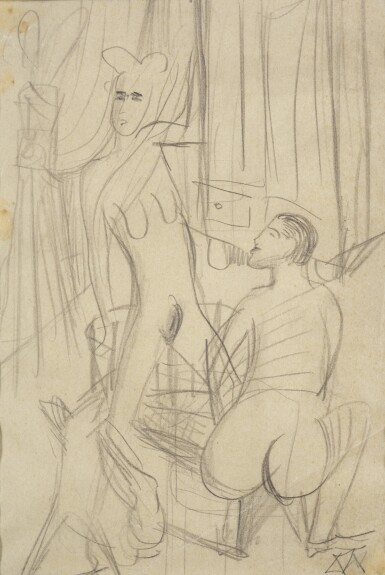 OTTO DIX | STUDY FOR THREE NUDES