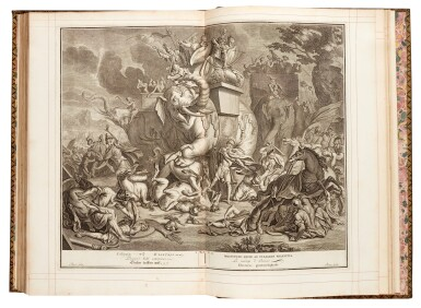 View 2. Thumbnail of Lot 69. Bible, London, 1751, 4 volumes, navy morocco gilt, Newcastle copy.