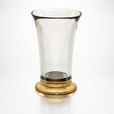 View 3. Thumbnail of Lot 12. THE IMPERIAL 'BALLETTA' VASE: A RARE AND IMPORTANT FABERGÉ TWO-COLOUR GOLD-MOUNTED SMOKY TOPAZ VASE, WORKMASTER MICHAEL PERCHIN, ST PETERSBURG, 1899-1903.