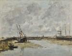 Trouville, les jetées, marée basse