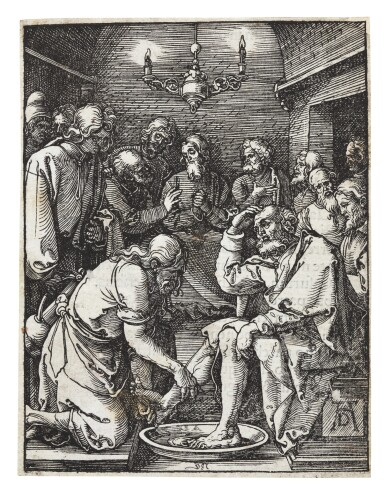 ALBRECHT DÜRER | CHRIST WASHING THE FEET OF THE DISCIPLES; PILATE WASHING HIS HANDS; CHRIST NAILED TO THE CROSS; AND THE LAMENTATION (B. 25, 36, 39, 43; M., HOLL. 134, 145, 148, 152)