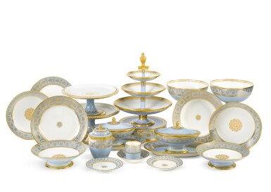 View 10. Thumbnail of Lot 82. A SÈVRES FOND AGATE COMPOSITE PART DESSERT SERVICE, VARIOUS DATES, PREDOMINANTLY 1833-1859.