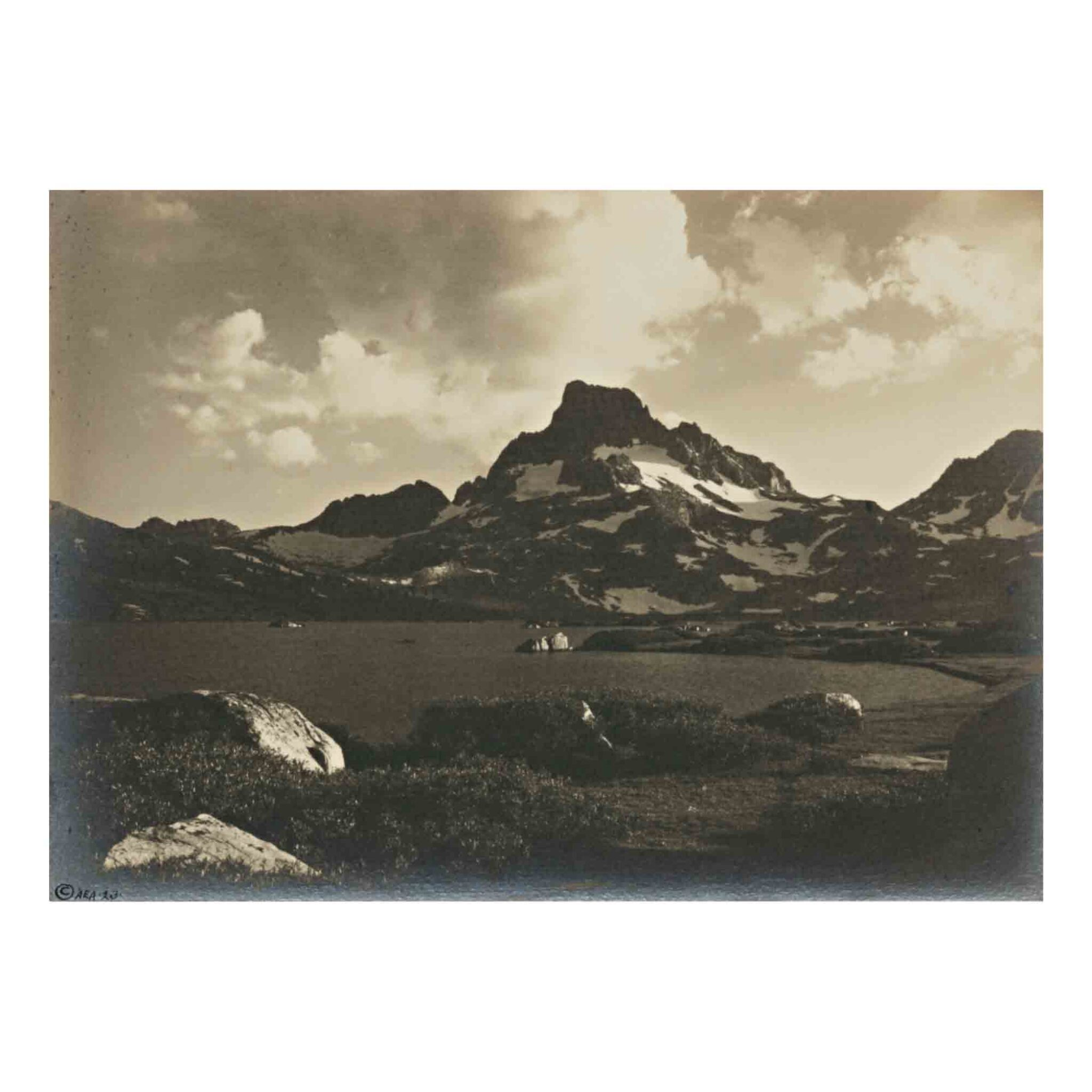 View full screen - View 1 of Lot 79. 'Thousand Island Lake and Banner Peak at Sunset'.