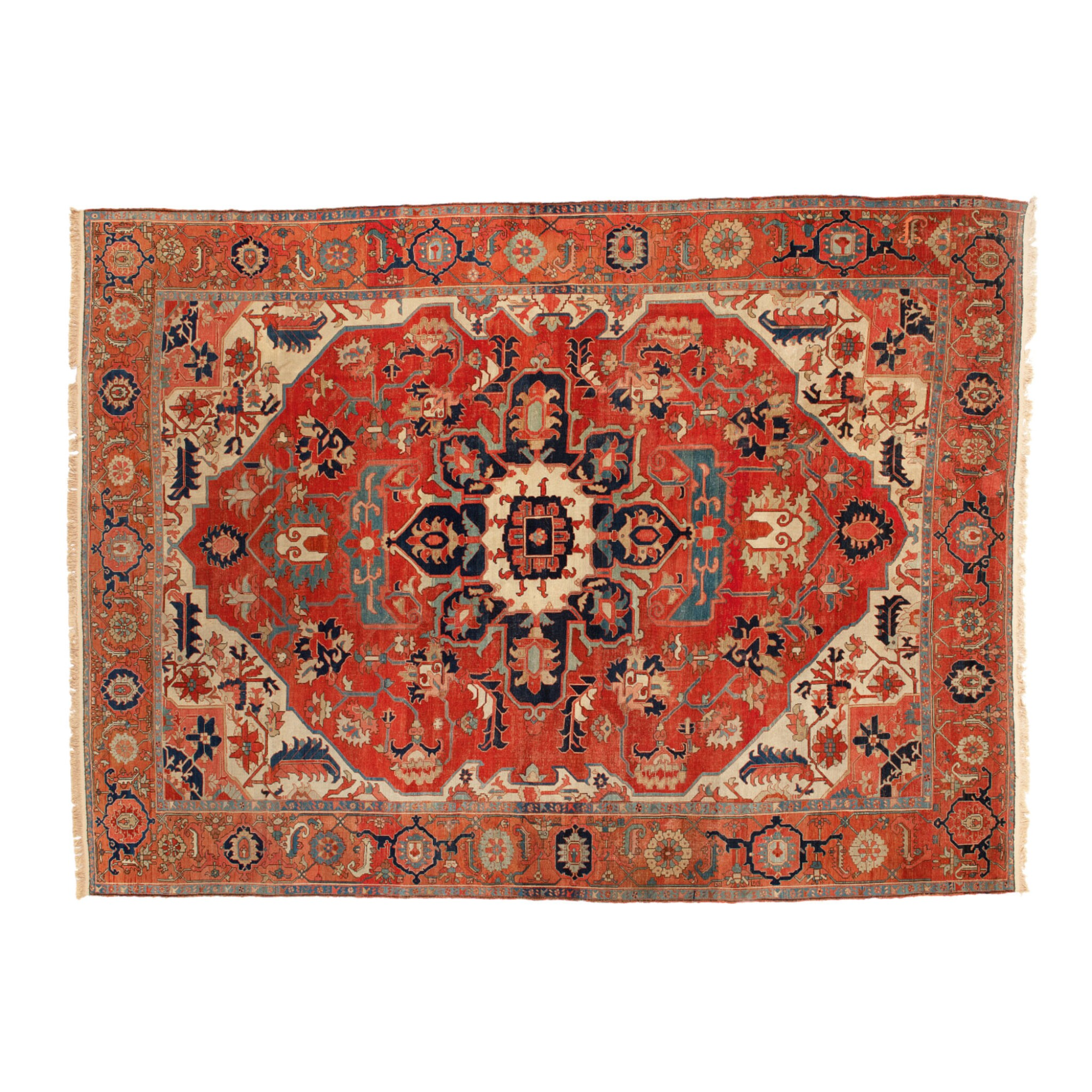 View full screen - View 1 of Lot 583. A HERIZ CARPET, NORTHWEST PERSIA, EARLY 20TH CENTURY.