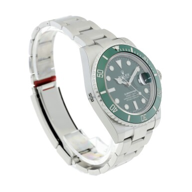 View 3. Thumbnail of Lot 7. REFERENCE 116610LV SUBMARINER 'HULK' A STAINLESS STEEL AUTOMATIC WRISTWATCH WITH DATE AND BRACELET, CIRCA 2020.
