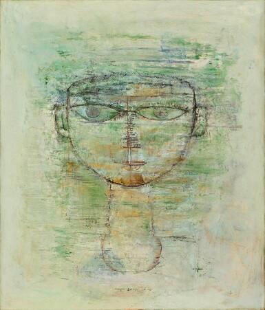 View 1. Thumbnail of Lot 1018. Zao Wou-Ki 趙無極 | Portrait d'homme 男子肖像.