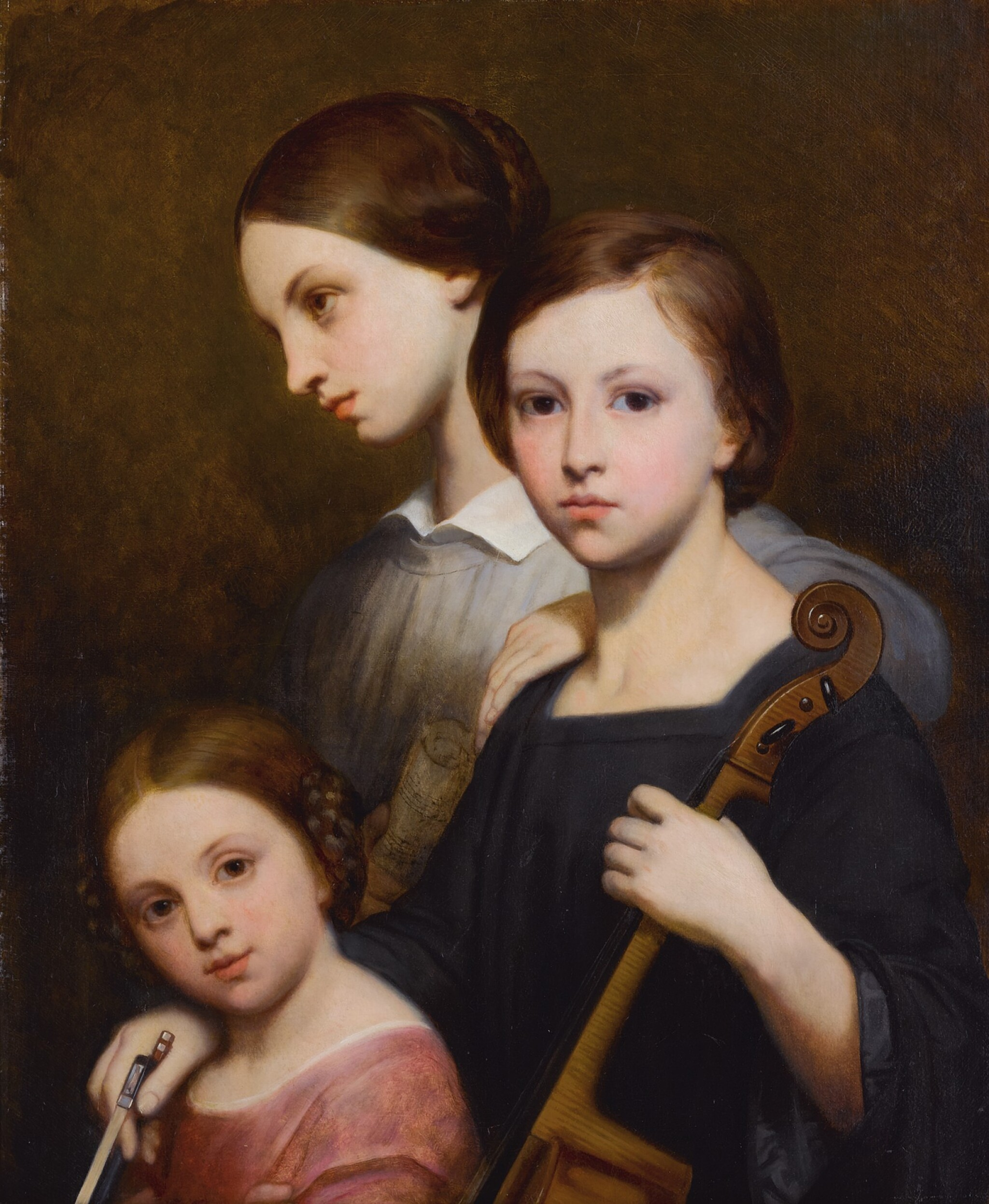 View full screen - View 1 of Lot 676. Portrait of René, Cécile and Louise Franchomme.