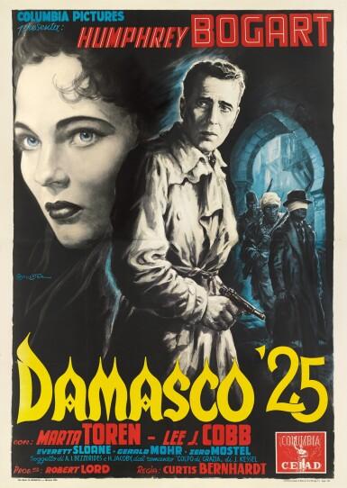 SIROCCO / DAMASCO 25 (1951) POSTER, ITALIAN