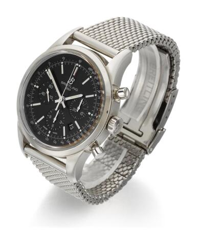 View 2. Thumbnail of Lot 30. BREITLING | TRANSOCEAN CHRONOGRAPH, REFERENCE AB015212,  STAINLESS STEEL CHRONOGRAPH WRISTWATCH WITH DATE AND BRACELET, CIRCA 2012.