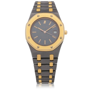 View 1. Thumbnail of Lot 521. Royal Oak, Ref. 14486TR Pink gold and tantalum wristwatch with date and bracelet Circa 1993 | 愛彼 14486TR型號「Royal Oak」粉紅金及鉭金屬鍊帶腕錶備日期顯示,年份約1993.