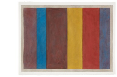 View 3. Thumbnail of Lot 25. Uneven Vertical Bands of Color VII II; Uneven Vertical Bands of Color VI III; Uneven Vertical Bands of Color X IV; Uneven Vertical Bands of Color II [four works].