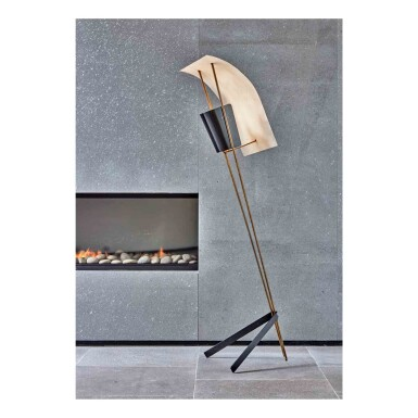 """View 1. Thumbnail of Lot 392. """"Cerf-Volant"""" Floor Lamp, Model No. G30."""