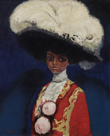 View 1. Thumbnail of Lot 130. KEES VAN DONGEN | PLUMES BLANCHES .