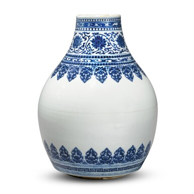 View 2. Thumbnail of Lot 32. A blue and white vase, Qing dynasty, Kangxi period.