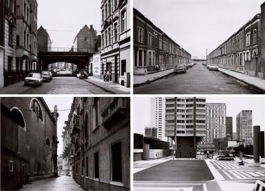 View 1. Thumbnail of Lot 36. 'Clinton Road', Murdock Cottages, London, 1977; 'Panorama 2', Beaugrenelle, Paris, 1979; 'Gereonswall', Koln, 1980; 'Calle Tintoretto', Venezia, 1990.
