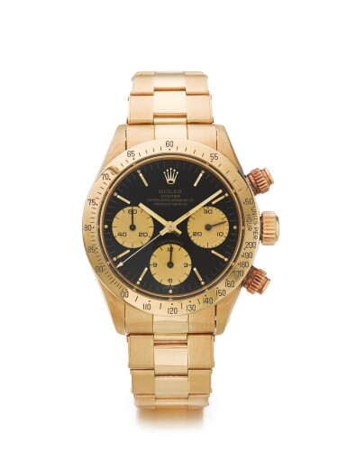 ROLEX | REF 6265/6263 DAYTONA, A YELLOW GOLD CHRONOGRAPH WRISTWATCH WITH REGISTERS AND BRACELET CIRCA 1986