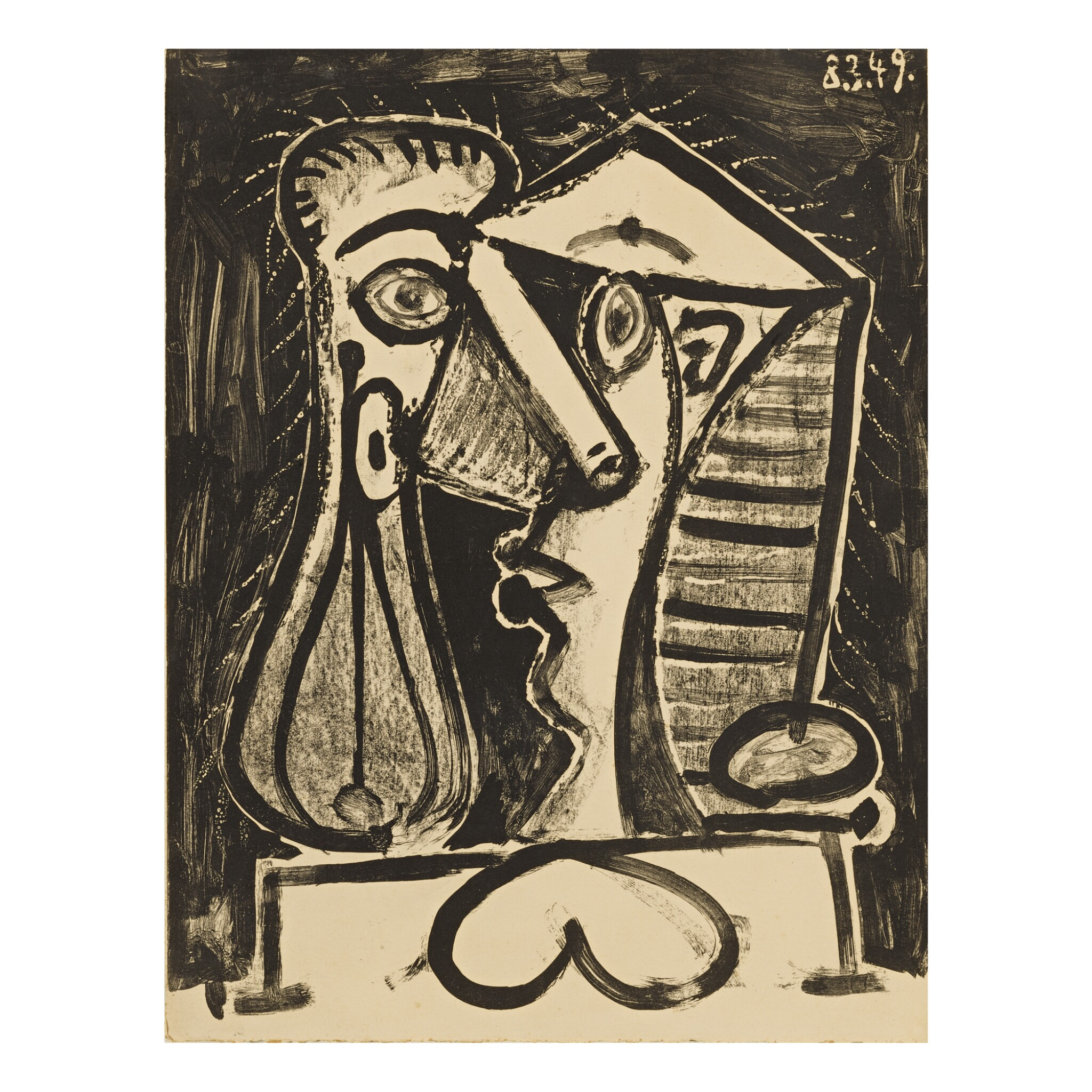 View full screen - View 1 of Lot 160. PABLO PICASSO | FIGURE COMPOSÉE II (B. 597; M. 166).