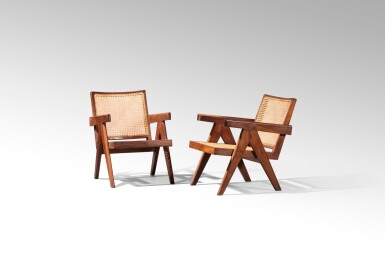 View 2. Thumbnail of Lot 24. Pair of Easy PJ-SI-29-A armchairs, circa 1952-1956 .