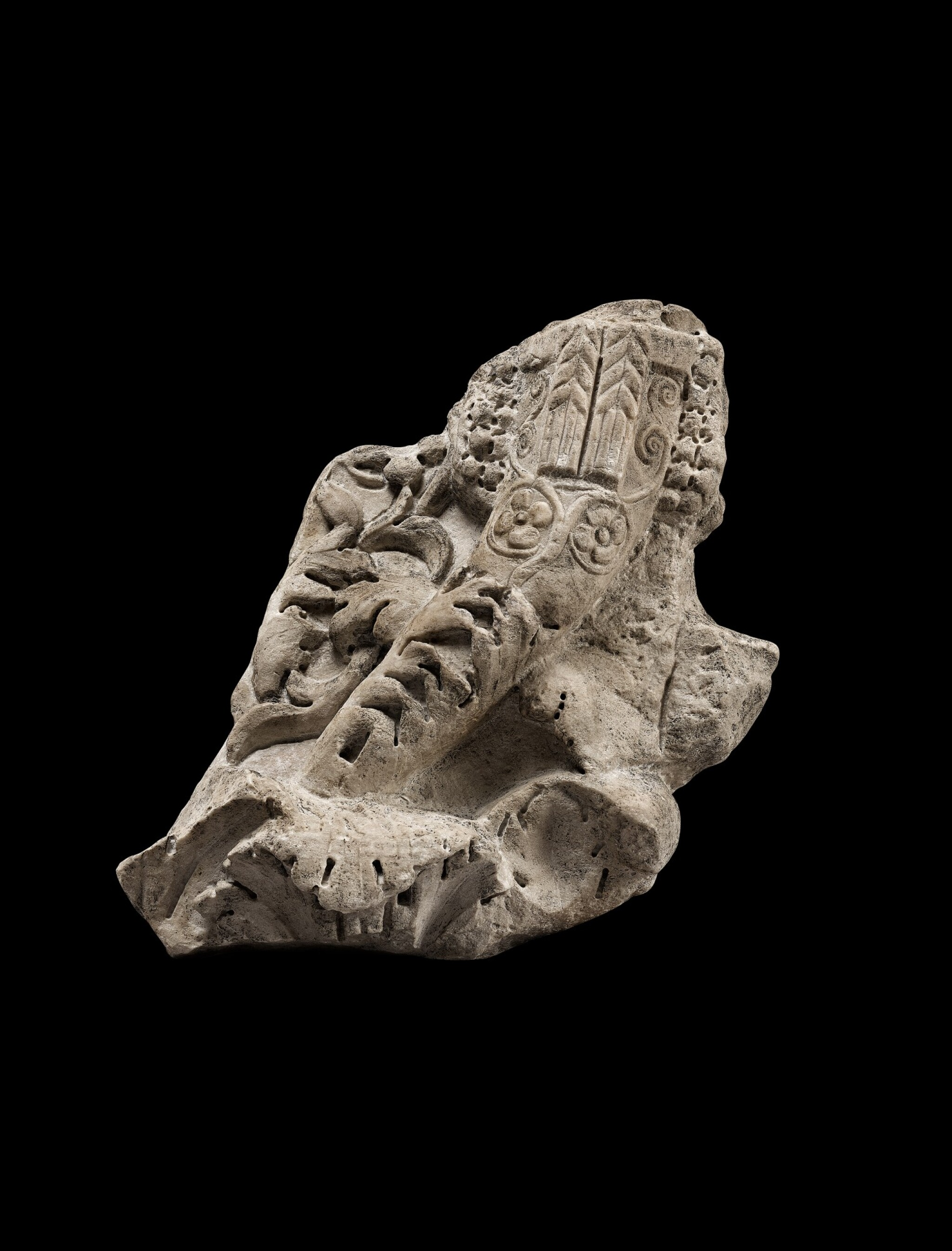 View 1 of Lot 102. A Roman Marble Pilaster Capital Fragment, circa 2nd Century A.D..