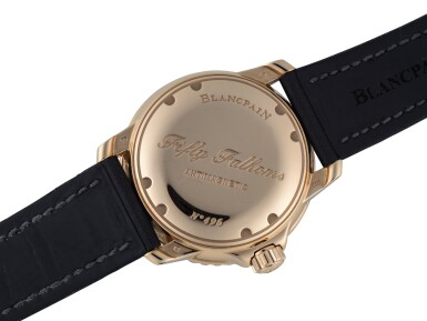 View 3. Thumbnail of Lot 34. BLANCPAIN   FIFTY FATHOMS, REF 5015-3630-52 PINK GOLD WRISTWATCH WITH DATE CIRCA 2012.