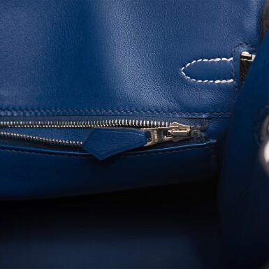 """View 8. Thumbnail of Lot 3. Hermès """"One Two Three and Away We Go"""" Limited Edition Birkin 25cm Palladium Hardware."""