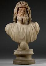 A ROMAN MARBLE BUST OF SARAPIS, CIRCA 2ND CENTURY A.D.