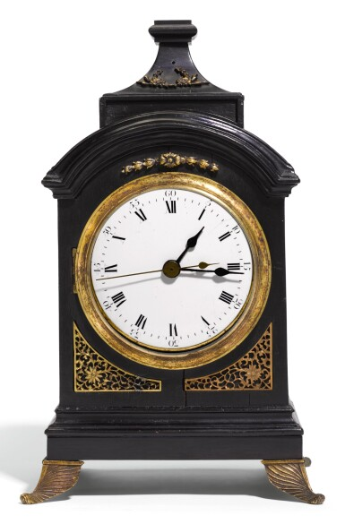 A SMALL ROSEWOOD QUARTER STRIKING AND MUSICAL TABLE CLOCK, CHINESE, CIRCA 1800