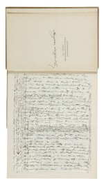 Thoreau, Henry David | The Works, with autograph manuscript leaf written at Walden