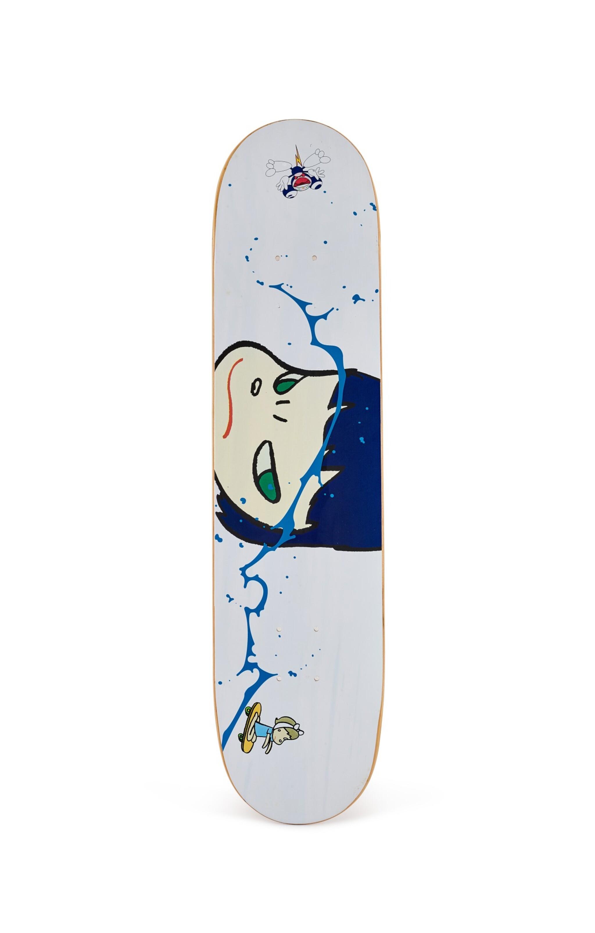 View 1 of Lot 9018. 奈良美智 x 村上隆 YOSHITOMO NARA X TAKASHI MURAKAMI   滑板 Skate Deck .