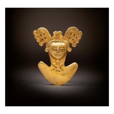 View 1. Thumbnail of Lot 114. TOLIMA GOLD FIGURAL PENDANT CIRCA AD 500-1000.