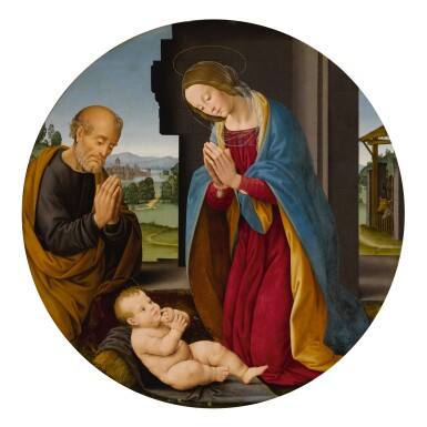 View 1. Thumbnail of Lot 3. Adoration of the Christ Child.