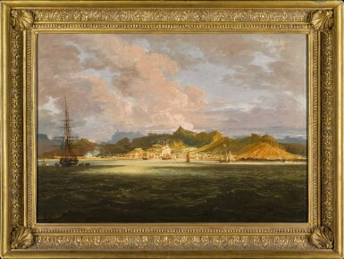 View 2. Thumbnail of Lot 49. View of Port Louis, Mauritius from the sea   《海中眺望毛里求斯路易港》.