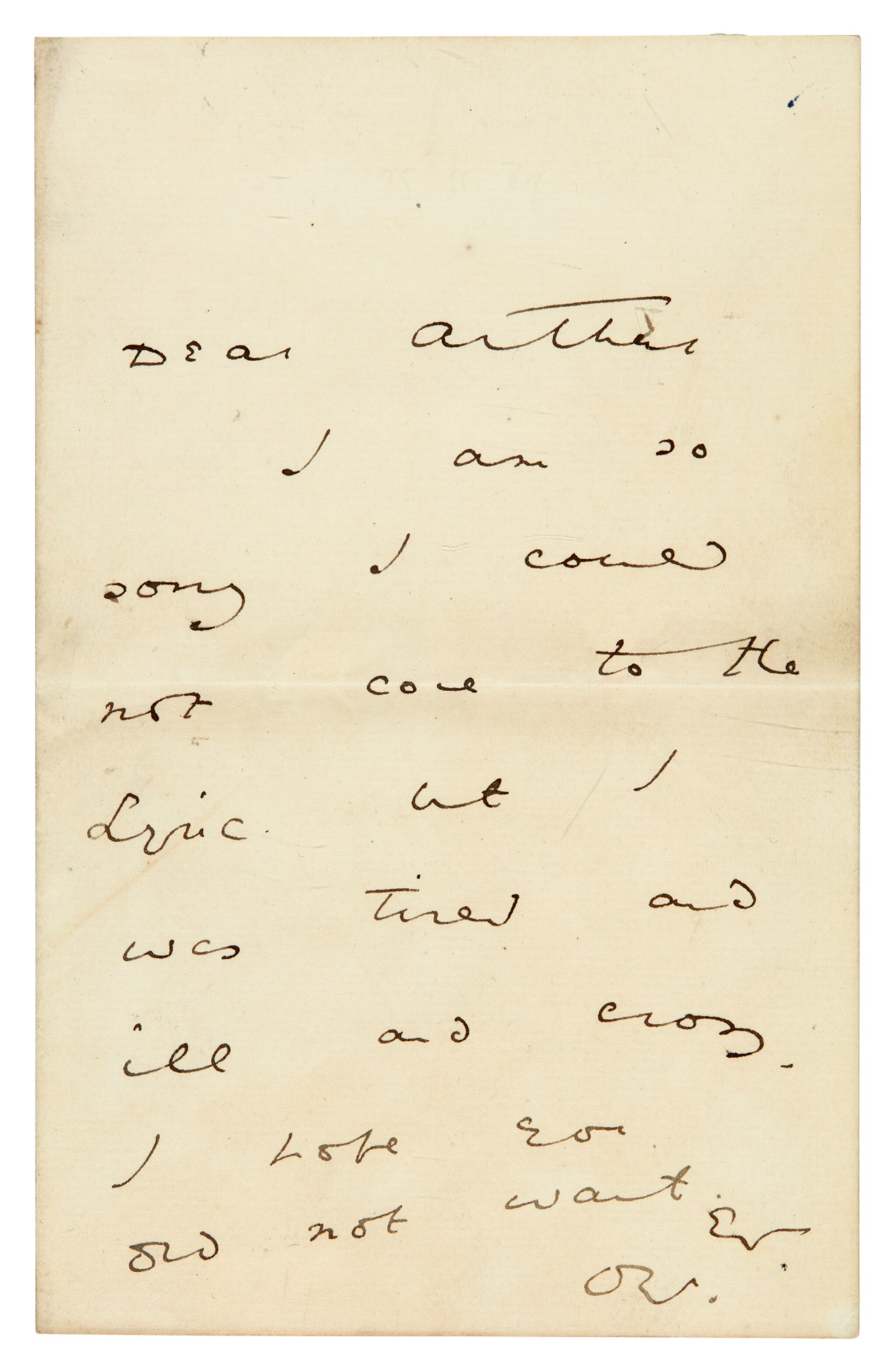View full screen - View 1 of Lot 173. WILDE | autograph letter signed, to Arthur [Clifton].