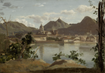 JEAN-BAPTISTE-CAMILLE COROT | THE TOWN AND LAKE AT COMO