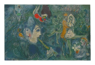 MARC CHAGALL | THE CIRCUS: ONE PLATE (M. 517; SEE C. BKS. 68)
