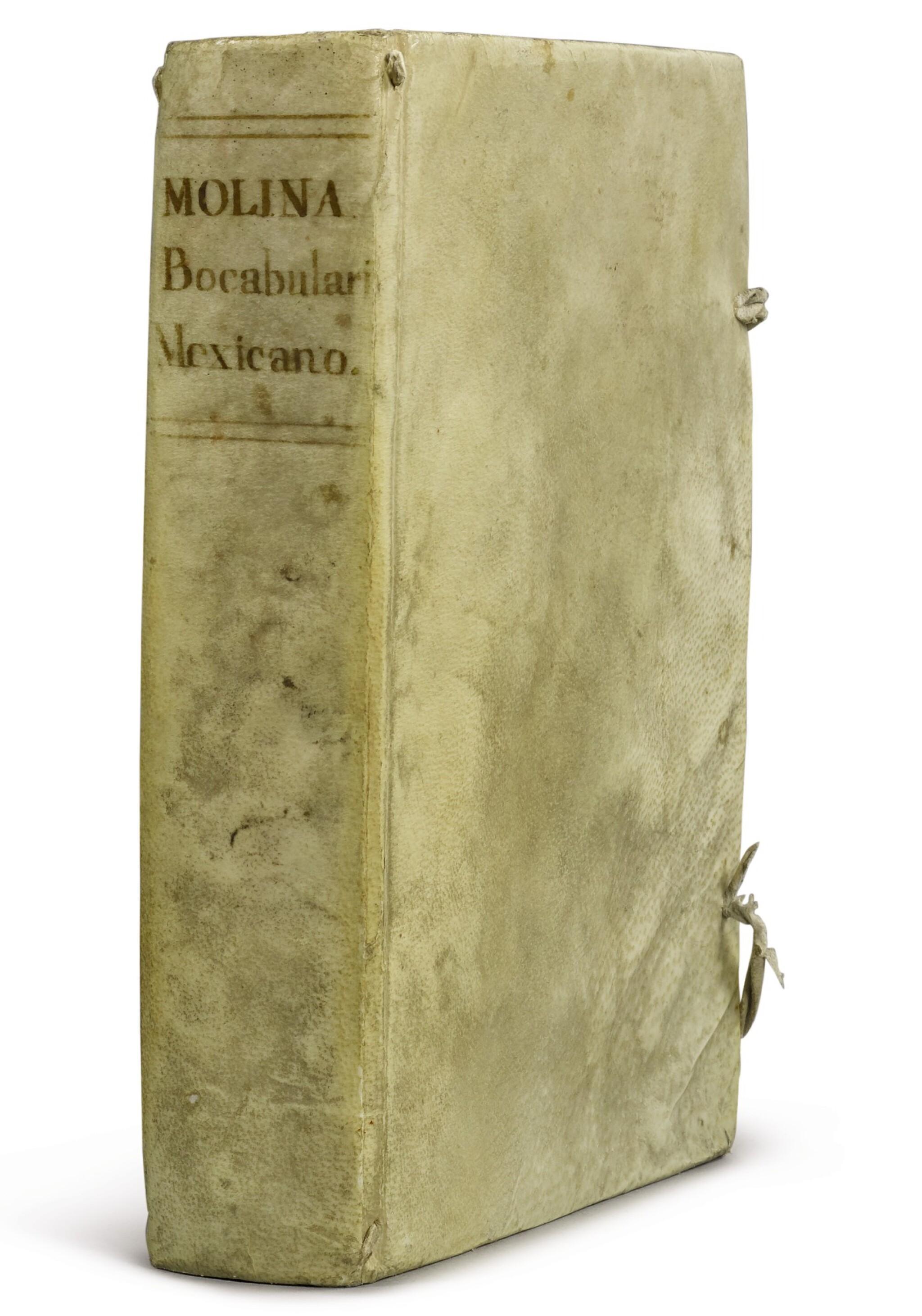 View full screen - View 1 of Lot 2199. [MEXICAN INCUNABLE] Vocabulario de Alonso Molina. México, Juan Pablos, 1555.