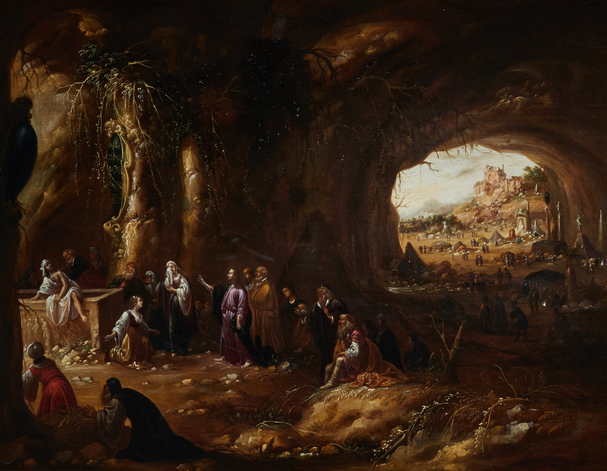 View full screen - View 1 of Lot 206. ROMBOUT VAN TROYEN | THE RESURRECTION OF LAZARUS.