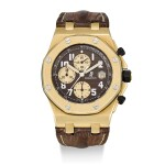 AUDEMARS PIGUET | ROYAL OAK OFFSHORE, REFERENCE 26007BA2.OO.D088CR.01, A LIMITED EDITION YELLOW GOLD CHRONOGRAPH WRISTWATCH WITH DATE, CIRCA 2004