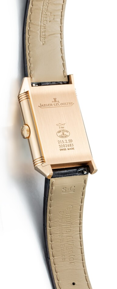 View 4. Thumbnail of Lot 504. JAEGER-LECOULTRE | REVERSO, REFERENCE 215.2.S9 A PINK GOLD DUAL TIME ZONE REVERSIBLE WRISTWATCH, CIRCA 2017.