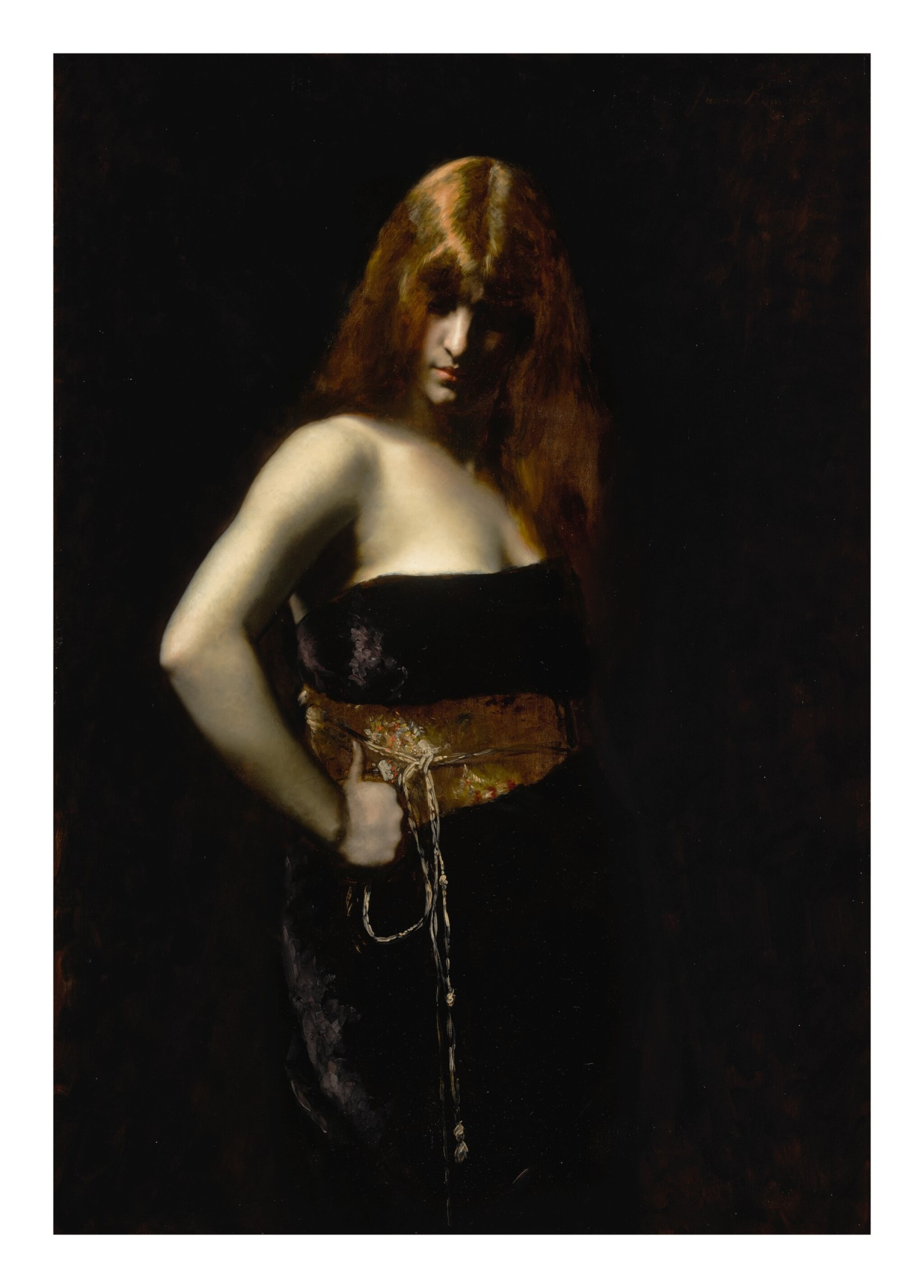 View full screen - View 1 of Lot 6. JUANA ROMANI | PORTRAIT OF A WOMAN WITH RED HAIR.