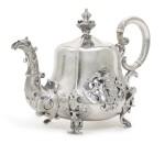 A silver teapot, Sazikov, Moscow, circa 1850