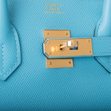 View 6. Thumbnail of Lot 15. Hermès Bleu du Nord Birkin 35cm of Epsom Leather with Gold Hardware.