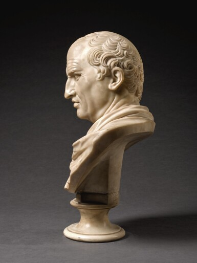 View 3. Thumbnail of Lot 105. ITALIAN, CIRCA 1800, AFTER THE ANTIQUE   BUST OF MARCUS TULLIUS CICERO (106-43 BCE).