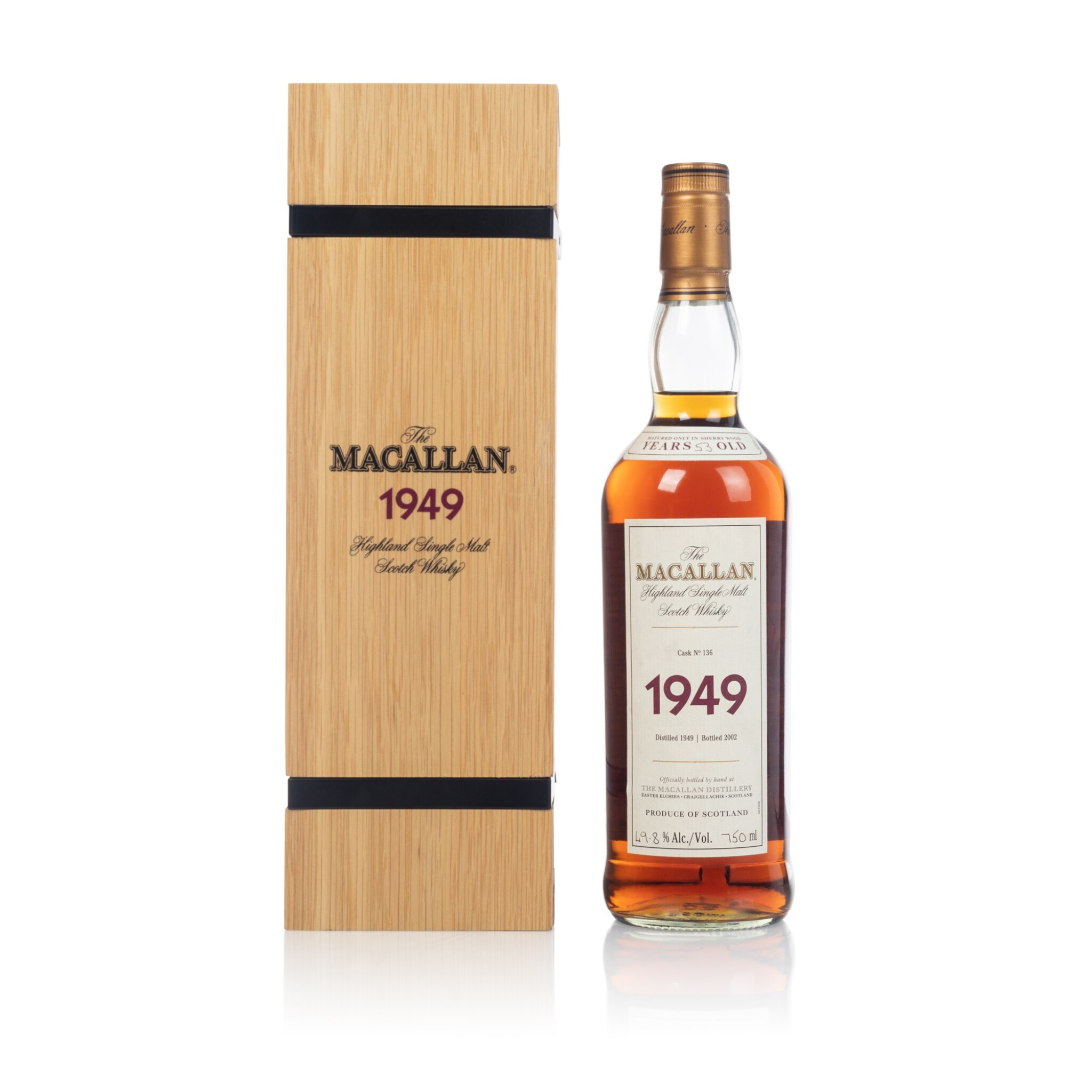 View full screen - View 1 of Lot 46. The Macallan Fine & Rare 53 Year Old 49.8 abv 1949 (1 BT70).