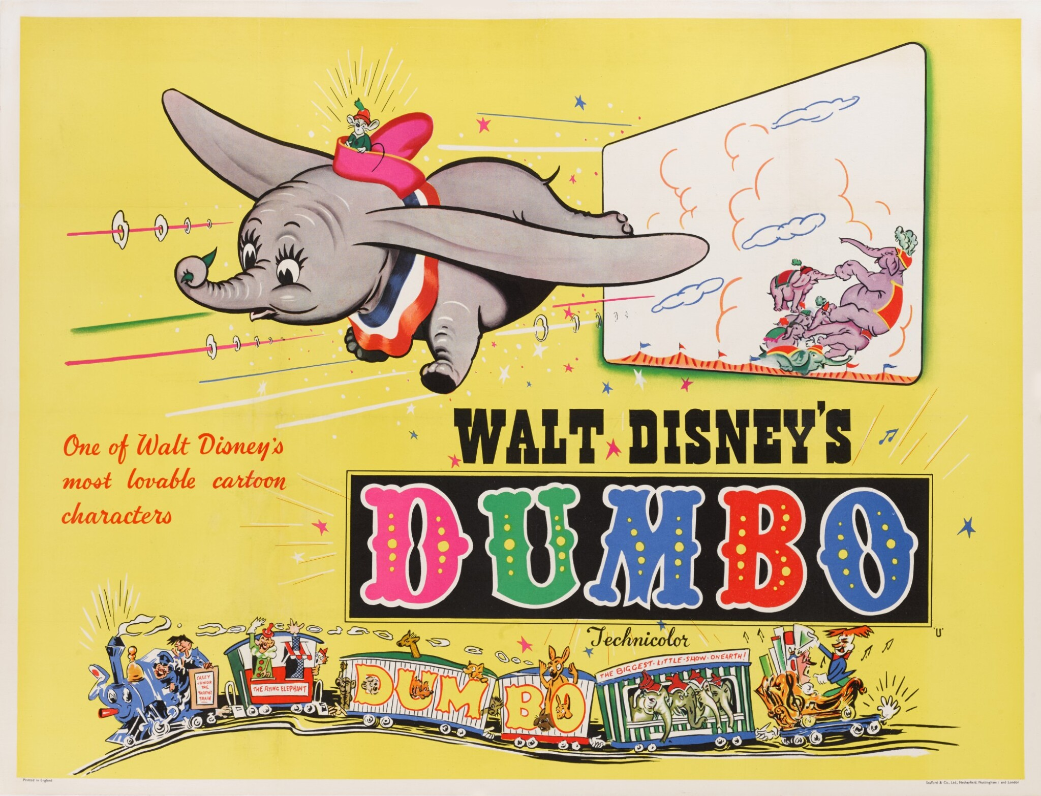 View full screen - View 1 of Lot 20. DUMBO (1941) POSTER, BRITISH.