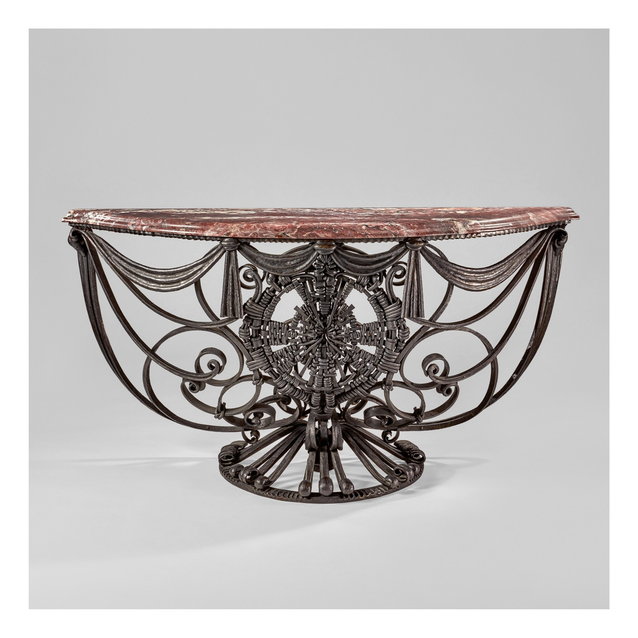 View 1 of Lot 50. Pair of Console Tables.