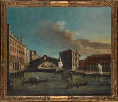 View 2. Thumbnail of Lot 183. MANNER OF GIOVANNI ANTONIO CANAL, CALLED CANALETTO | Venice, a view of the Ponte di Rialto from the North.