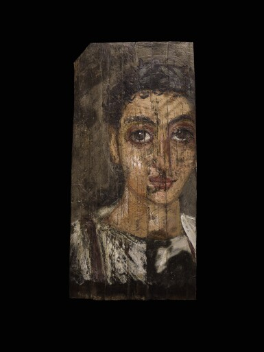 View 1. Thumbnail of Lot 68. An Egyptian Encaustic on Wood Mummy Portrait of a Youth, circa late 1st Century A.D.  .