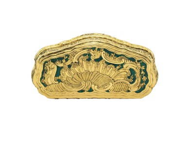 View 2. Thumbnail of Lot 5. A gold and enamel snuff box, Frantz Bergs, Stockholm, probably circa 1730.