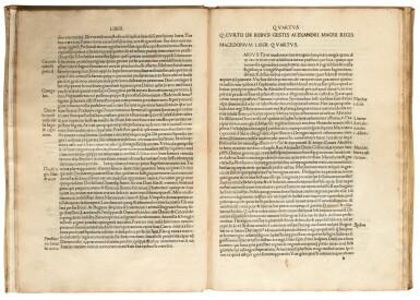 View 2. Thumbnail of Lot 180. Curtius Rufus, Historiae Alexandri Magni, Venice, 1494, modern vellum.
